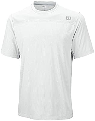 Wilson M Knit-Stretch Woven Crew WH - Camiseta para Hombre, Color ...