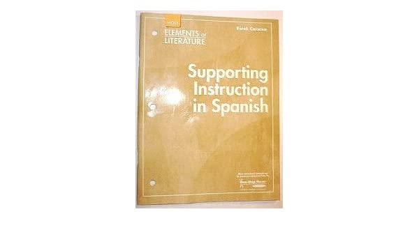 Amazon Supporting Instruction In Spanish Elements Of