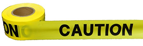 1 roll of Barricade Tape. Yellow and Black Caution Tape 3 inch Wide, 1000 Feet. Printed Barricade Tape 3 mil, Barrier Warning (Feet Printed Ribbon)