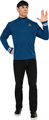 Original Series Star Trek Costumes (Rubie's Costume Co. Men's Star Trek: Beyond Spock Costume Shirt, As Shown, Small)