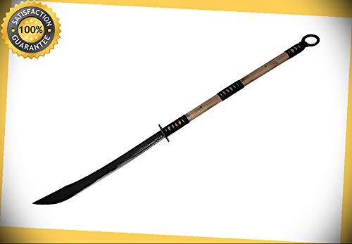 54'' Functional Hand Made Chinese Pudao Japanese Naginata Polearm Sword Sharp perfect for cosplay outdoor camping