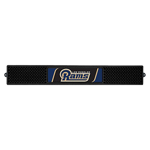 Fanmats 20538 NFL - Los Angeles Rams Drink Mat, Team Color, 3.25''x24'' by Fanmats