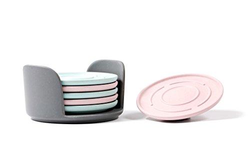 Dual Color Bamboo Fiber Drink Coasters