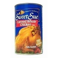 Sweet Sue pollo entero enlatado sin chispas, lata de 50 ...