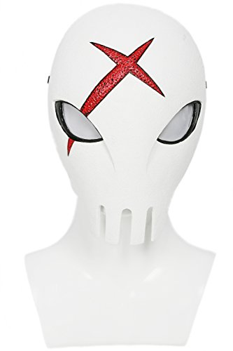 Red X Mask Deluxe White Skull Masque Adult Cosplay Props (Red X Costume)