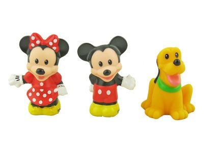 Mattel Little People (Magic of Disney Mickey and Minnies House Playset by Little People - Replacement Figures (Mickey, Minnie & Pluto))