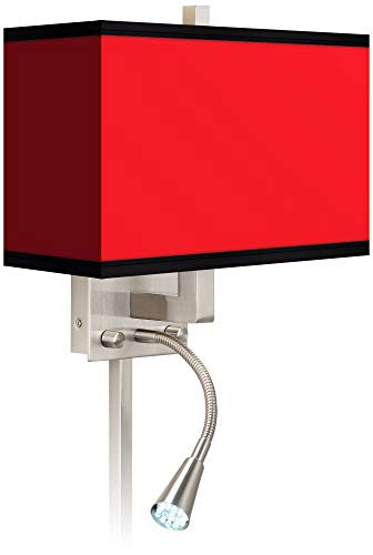 All Red Giclee LED Reading Light Plug-in Sconce - Giclee Gallery