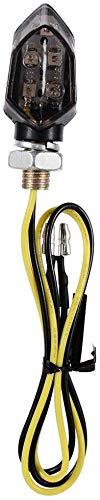 5 luces LED SMD luz intermitente para Suzuki Kawasaki Yamaha znwiem 2 indicadores de se/ñal de giro para motocicleta color /ámbar