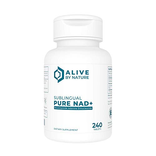 Alivebynature Sublingual NAD+ 125mg x 240 Tablets Nicotinamide Mononucleotide