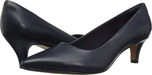 CLARKS Women's Linvale Jerica Pump, Navy Leather, 080 M US