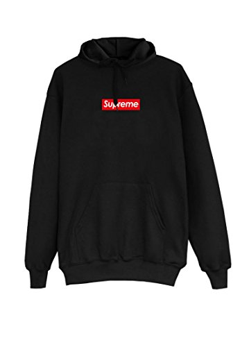 SUPREME Hoodie black Kapuzenpullover Pullover Hooded small box red