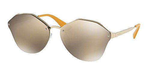 Prada Women's 0PR 64TS Pale Gold/Light Brown Mirror Gold - Prada Sunglasses Latest