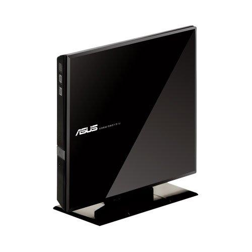 ASUS SDRW08D1SUB Dual Interface External Slim DVDR/RW Drive - Black