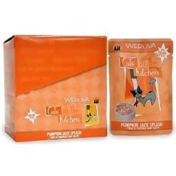 Weruva Cats in the Kitchen, Pumpkin Jack Splash with Tuna in Pumpkin Soup Cat Food, 3oz Pouch (48 pouches)