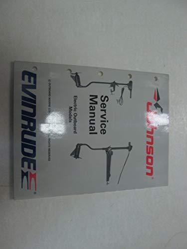 1989 Johnson Evinrude Electric Outboard Service Manual OEM Boat 507752 ***