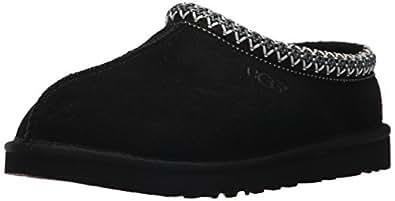 UGG Australia Men's Tasman Black Suede Slippers - 7 D(M) US