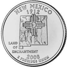 2008 D New Mexico State Quarter Choice Uncirculated