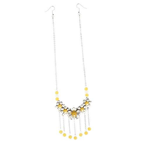 Vintage Forehead Bridal Hair Accessories Wedding Headbands Bindi Jewelry (Color - Yellow) (Tahitian Yellow Bracelet)