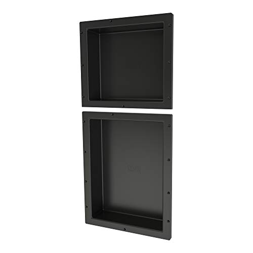 "Tile Redi USA RND1614S-20 Redi Niche Dual Shelf with 20"" H Inner Shelf, 16"" W x 34"" H"