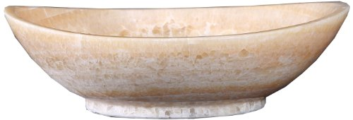 (Virtu USA VST-2061-BAS Phoenix Vessel Sink with Natural Honey Onyx Marble)