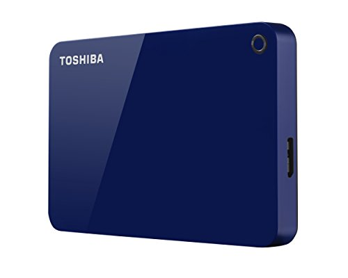 Toshiba Canvio Advance 1TB Portable External Hard Drive USB 3.0, Blue (HDTC910XL3AA) by Toshiba (Image #2)