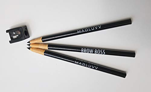 Best Eyebrow Mapping Pencil, 3 Pack with Sharpener, Premium Brow Mapping Pencil