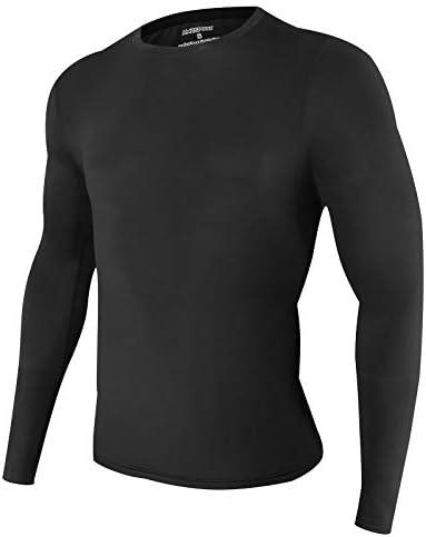 Daoba Uomo di Compressione Tanktop Magliette Senza Maniche Funzione Base Layer Asciugatura Rapida Tops Fitness Running