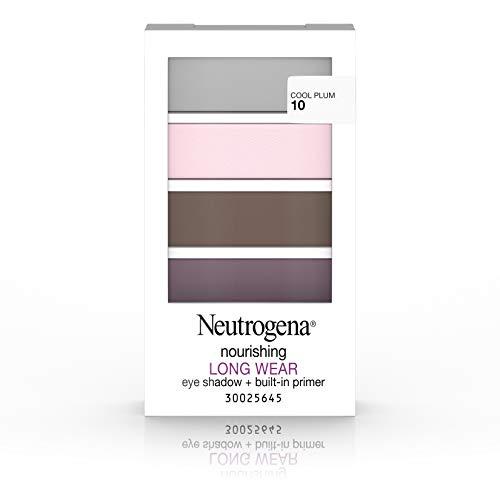 (Neutrogena Nourishing Long Wear Eye Shadow + Built-In Primer, 10 Cool Plum, .24 Oz.)