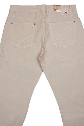 ALBERTO Jeans Hose 33/34 Hellbraun Stone-Dyed