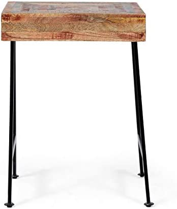 Christopher Knight Home Julia Handcrafted Boho Mango Wood End Table