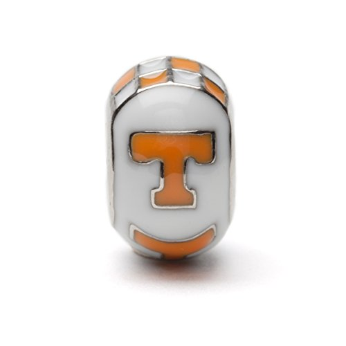 (University of Tennessee Bead Charm | Tennessee White and Orange