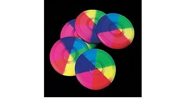 Ballonfahren Mini Rainbow Flying Discs 1 Dz