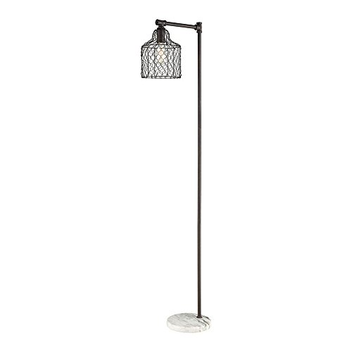 - Diamond Lighting D3579 Floor lamp, Bronze Metal, White Marble