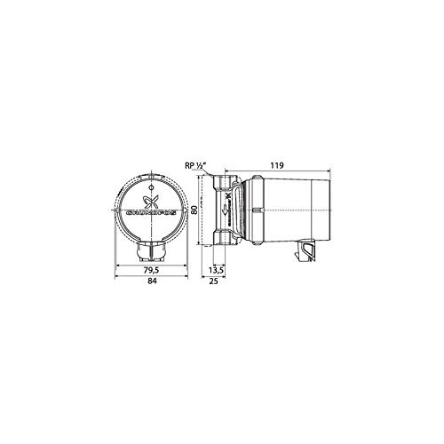 Single circulateur Hot health Comfort-UP 15-14 B PM-Hole Diameter 80 mm circulateur Rp 1/2 by Grundfos