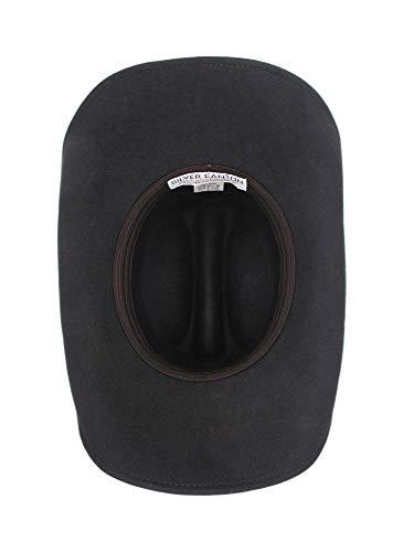 Men s Wool Cowboy Hat Laramie Black Shapeable Western Felt Hats by Silver  Canyon 71332b48a41e