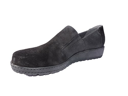 (Stuart Weitzman Womens Walking Loafers Black Suede Shoes Size 5.5 M)