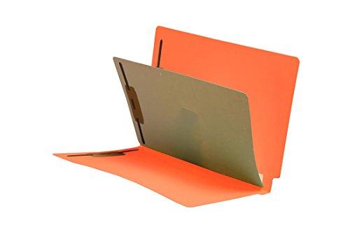 11 Pt. Orange Folders, Full Cut End Tab, Letter Size, 1 Divider Installed, Mylar Reinforced Spine (Box of 40) (Reinforced Spine)