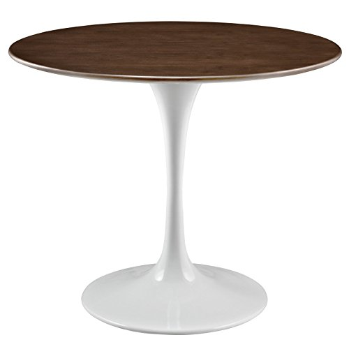 Modway Lippa 36 Walnut Dining Table in Walnut