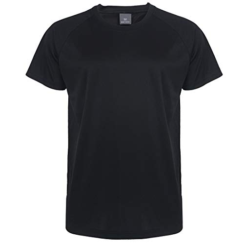 - Summer Sports T Shirts for Men Short Sleeve Gym Running Crew Neck Casual Youth Tee Workout T-Shirt Top (Black06, 3XL)