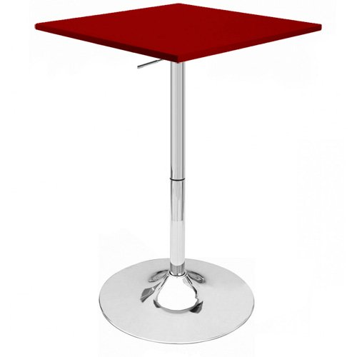 Modernhome Zeta Contemporary Adjustable Bar Table - Cabernet Red