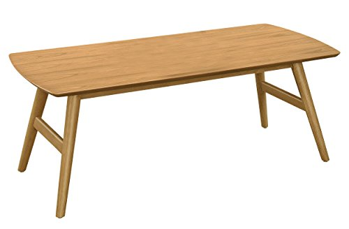 Danish Modern Coffee Table - Homelegance Anika Mid-Century Cocktail Table, Light Ash