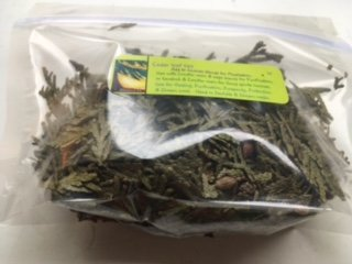 Herbs: Cedar Leaf ~ Tips ~ 1 oz ~ Wild Harvested ~ Ravenz Roost herbs with Special info on Label