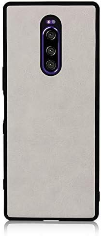 PUレザースマホケース Xperia1 ホワイト
