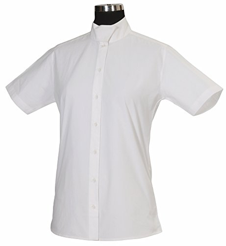 TuffRider Women's Starter Short Sleeve Show Shirt, White, 34 (Tuffrider Cotton Shirt)