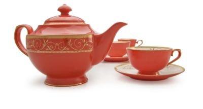 Teavana Ruby Filigree Bone China Tea Set