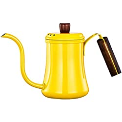 304 Stainless Steel Coffee pot anti-Scalding Wooden Handle large Capacity Kettle Suitable for home use