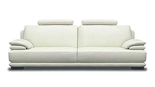 Calia Maddalena–Sofa Modern New York Leder spessorata Divano 2 posti - 185x88x90 cm Pelle Spessorata Blu Notte