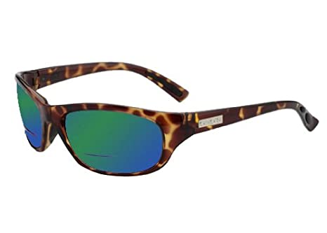 6d3008a1127 Ono s Oak Harbor Polarized Bi-Focal Sunglasses in Tortoise with Mirrored  Green Tinted Lens