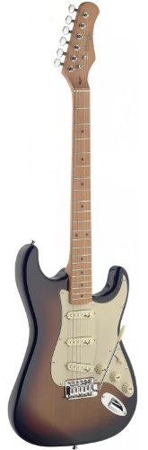 Stagg SES50M-SB Vintage Style Electric Guitar with Solid Alder Body - -