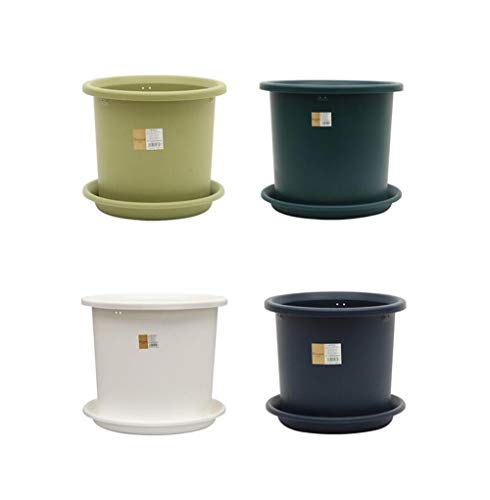 XIAONINGMENG Resin Flower Pot, Plastic Gallon Flower Pot, 2L / 3L / 5 / L / 8L / 12L / 15L, Suitable For Large And Medium Plants convenient and practical (Capacity : 5L, Color : Light green)